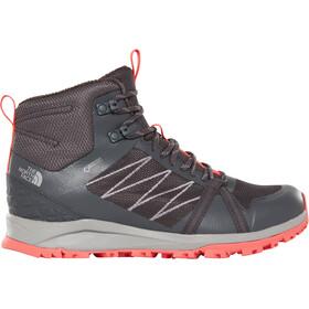 The North Face Litewave Fastpack II Mid GTX Zapatillas Mujer, ebony grey/fiesta red